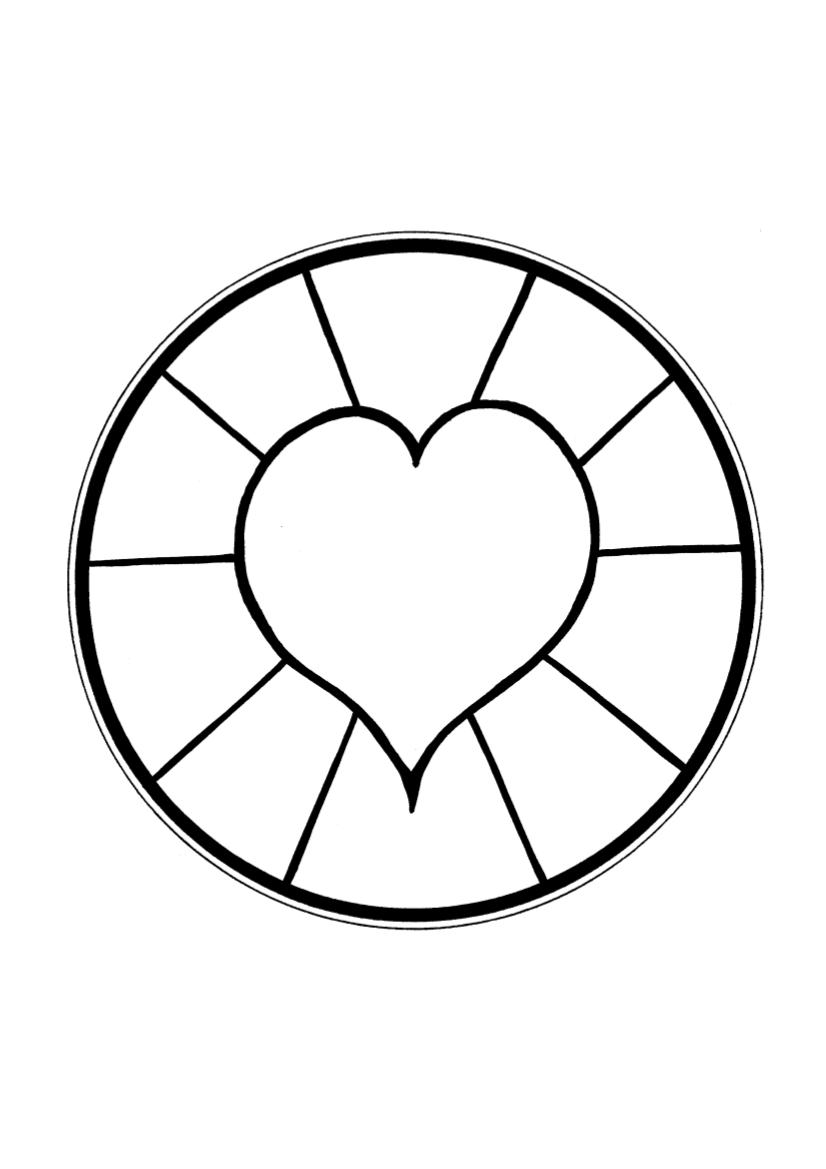 Mandala Boyama Sayfaları Okul öncesi