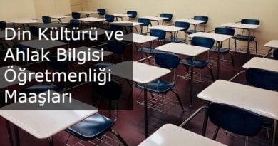din kültürü öğretmeni maaş